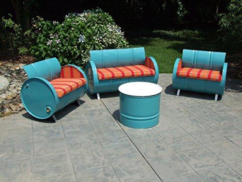 Drum Works Furniture 3004 4 Piece Tahoe Indoor/Outdoor Garden Patio Conversation Set (Tahoe Furniture Patio)