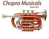 Pocket Trumpet Pro Orange Nickel Combination Chopra