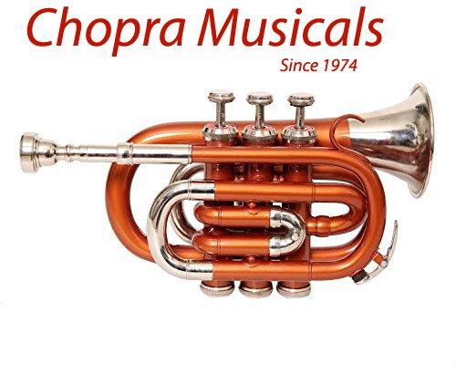 Pocket Trumpet Pro Orange Nickel Combination Chopra Make with M/P & Case