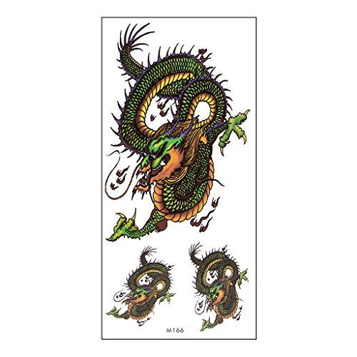 Arich Waterproof Temporary Tattoos -5 Sheets 3D Animal Pattern Tattoo Temporary Sticker - Sticker Removable Body Art Totem for Halloween Christmas M166
