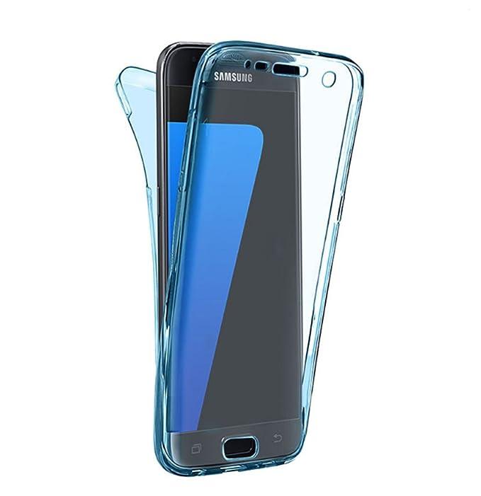 Funda Compatibles con Samsung Galaxy S7 Carcasa Silicona Protectora TPU Transparente 2-en-1 Ultra-delgado Anti-Arañazos Cover 360° Proteccion Case 5.1 ...