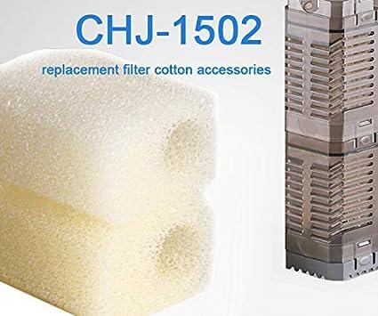LONDAFISH Coton de Remplacement d'aquarium pour la Pompe Submersible de Filtre de réservoir de Poisson Mousse de Rechange (602) CHJ-602T