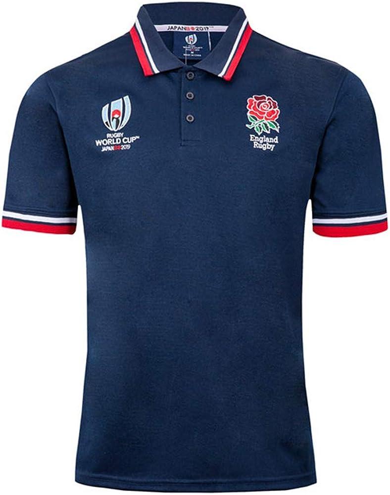2019 England Nationalmannschaft Rugby-Trikot M/änner Freizeit T-Shirt Trainingsanz/üge WM Cotton Jersey Grafik-T-Shirt Unisex-Fans Trikots Atmungsaktives Sport Top