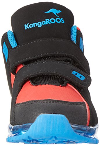 KangaROOS Unisex-Kinder K-Lev Vii LED High-Top Mehrfarbig (Black/k Red)