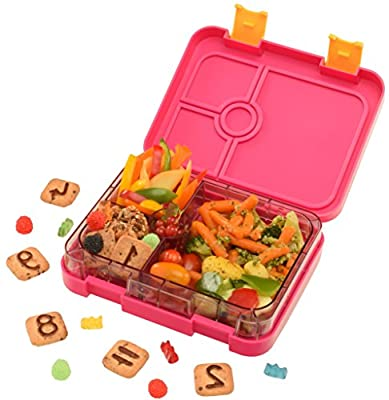 WonderEsque Bento Lunch Box Pink - Leak-Proof Lunch Container - For Kids and Adults (RUBY PINK) from WonderEsque