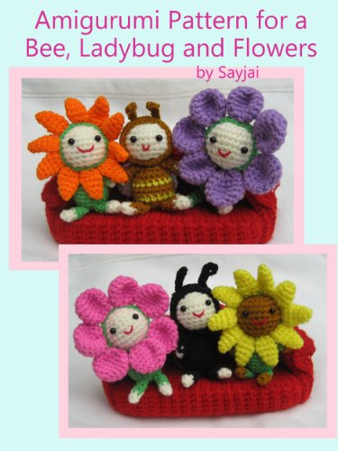 Amazon Amigurumi Pattern For A Bee Ladybug And Flowers Easy