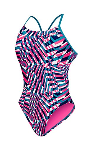 Nike Cut Out Tank Swimsuit Women's 36 HyperPink