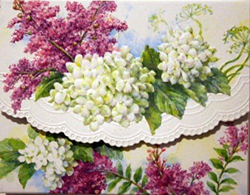 Carol's Rose Garden White Hydrangeas Blank 10 Card Set Portfolio