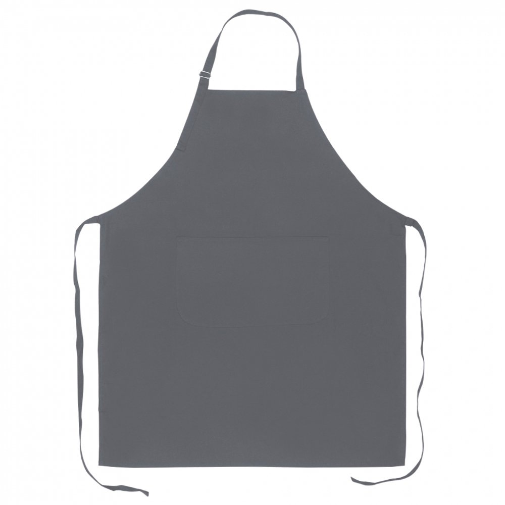 eBuyGB Set of 10 Full Length Cotton Kitchen Apron - Chef Cooking Aprons with Front Pocket and Adjustable Head Strap (Grey)