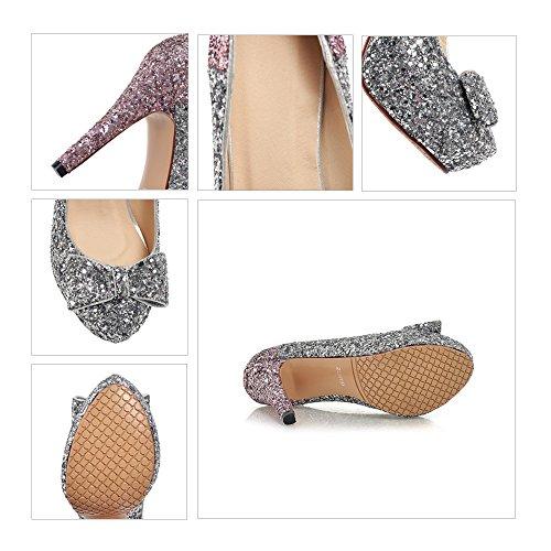 Shoes golden Platform Bowknot 36 High Sexy Paillette Heel wXCYxqn