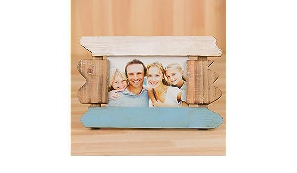 DHWJ Europeo sólido Madera portaretrato, Portaretrato Simple Pared Marco de Fotos de Pareja de los niños creativos-A 12.7x17.7cm(5x7inch): Amazon.es: Hogar