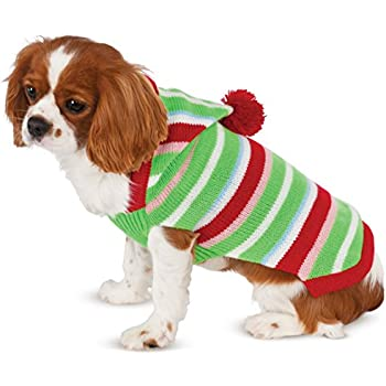 Candy Striped Knit Pet Sweater, Large