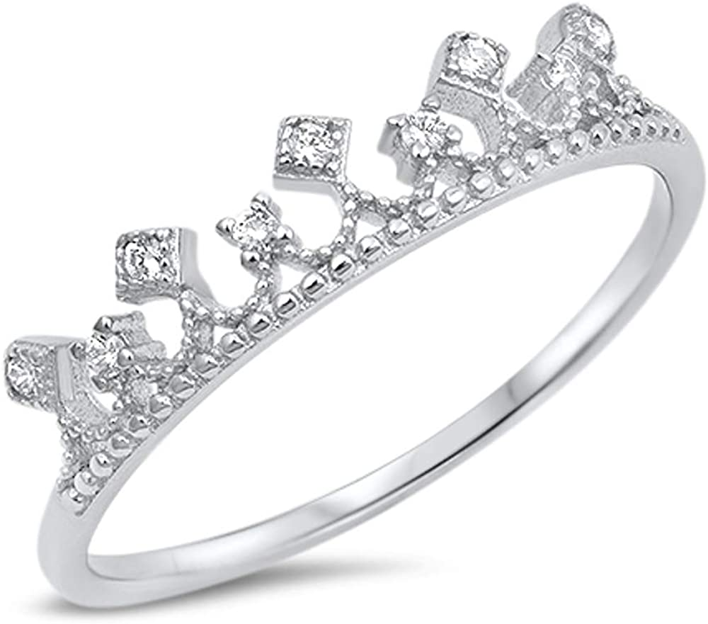 North Arrow Shop Princess Promise CZ Ring 925 Sterling Silver with Gift Box