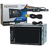 Kenwood Double DIN DDX374BT 6.2 Touchscreen DVD AM/FM Receiver Bluetooth & Pandora Playback with DCO Waterproof Backup Camera with Nightvision