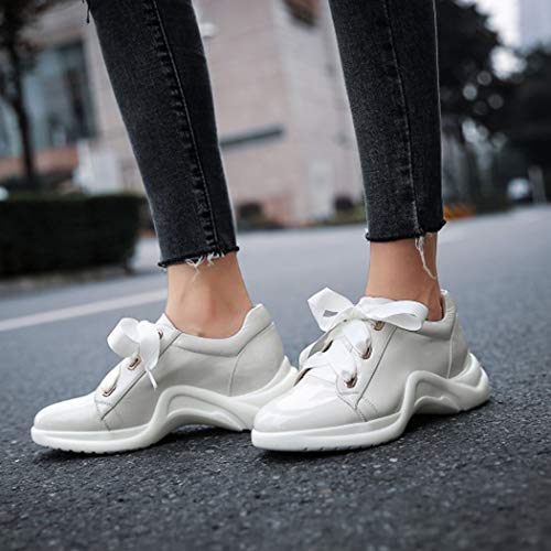 White Sneakers Da Bianco Donna Casual Running RLYAY Scarpe Verde g8Rdxq8Pw