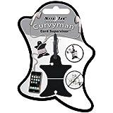 Nite Ize Curvyman Cord Supervisor Earbud Organizer, Headphone Cord Wrap - Compact, Durable, and Lightweight, Black