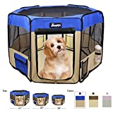"JESPET 45"" Pet Dog Playpens, Portable Soft Dog"