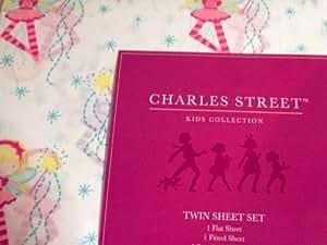 Charles Street Kids Collection Fairy Ballerina Sheet Set, Twin Size