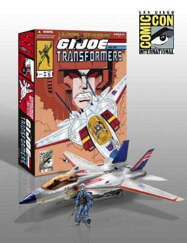 (G.I. Joe Pursuit of Cobra SDCC 2011 San Diego ComicCon Exclusive 3 3/4 Inch Vehicle Skystriker Jet with Cobra Commander Starscream Repaint)