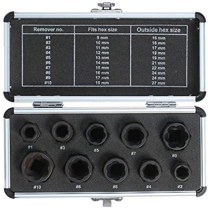 10pcs Hoch Bolt Kern Extractor 9-19mm Radsperre Kern Remover Ausziehsatz Repair Werkzeuge