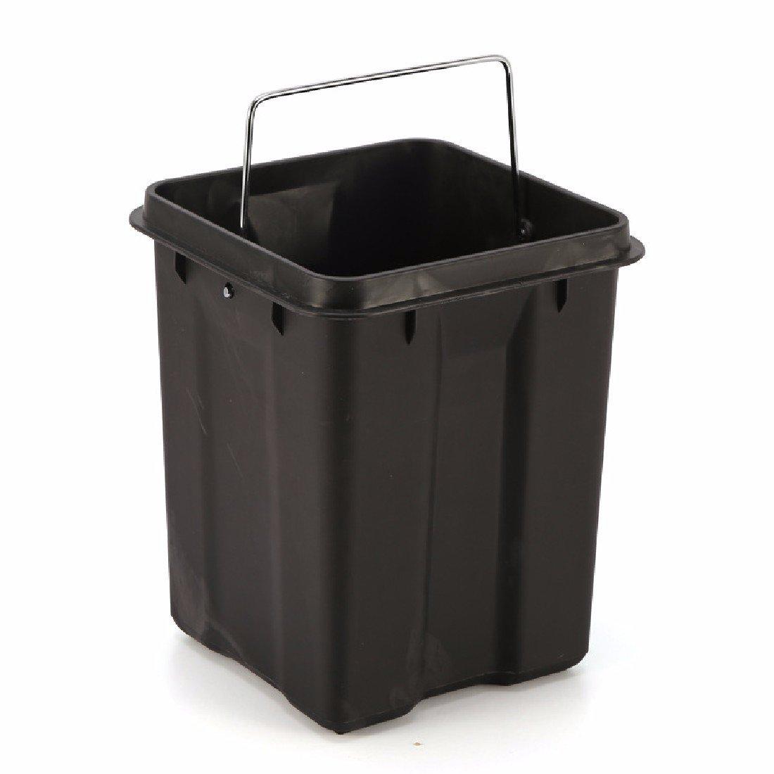 HQLCX-Rubbish Bin Cubos de Basura Casa De De De Acero Inoxidable 6L Mute Moda Garbage Bin Salon Cocina Aseo con Botes De Basura,Rosa f329c8