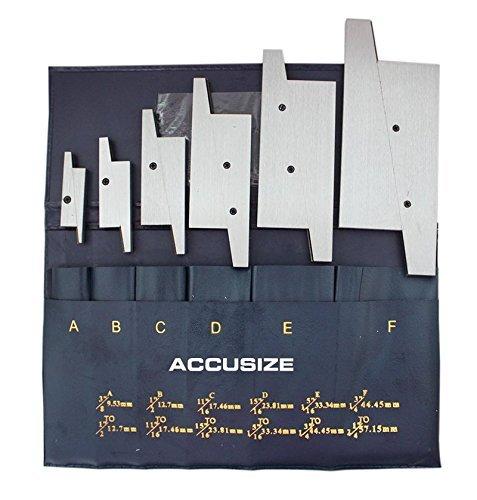 AccusizeTools - 6 Pair/Set Adjustable Precision Parallel Set, EG02-5001