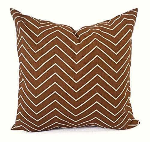 Amazon Com Brown And White Chevron Pillows Chevron