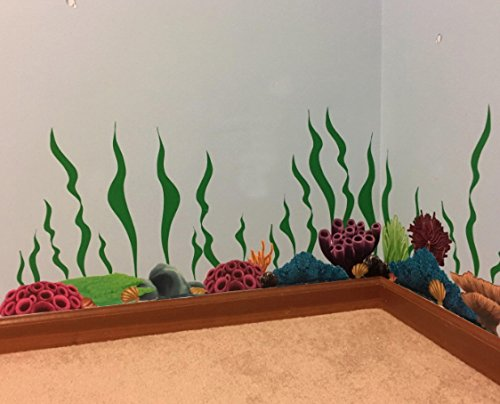Create-A-Mural Coral & Seaweed, Ocean Wall Decals, Undersea Wall Decor Stickers for Kids Room ~ (34) Sea Wall Stickers by Create-A-Mural (Image #5)