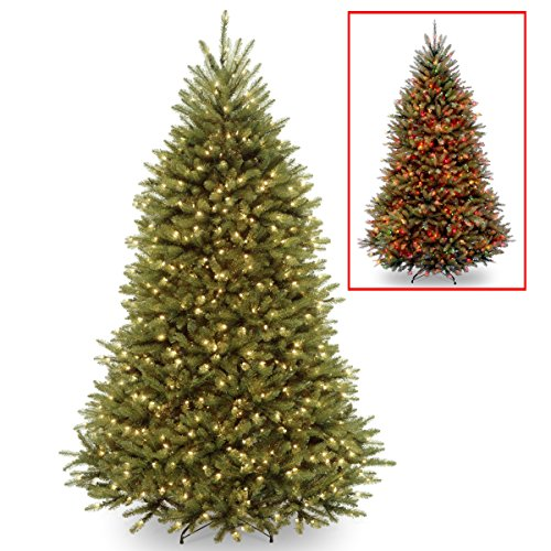 National Tree 7.5 Foot Dunhill Fir Tree with 700 Dual LED Lights and 9 Function Footswitch, Hinged (DUH-330LD-75S) by National Tree Company (Image #3)