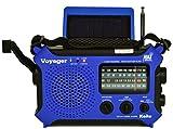 Kaito KA500L Emergency AM/FM/SW NOAA Weather Alert Radio with Solar,Dynamo Crank,Flashlight(Blue)