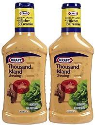 Kraft Thousand Island Dressing, 16 oz, 2 pk