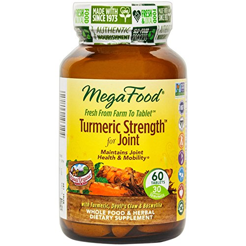 MegaFood - Turmeric Strength for Joint, Curcumin Support for Healthy Inflammation, 60 Tablets (Foods Joint Support)