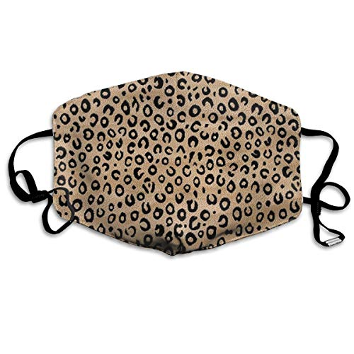 NOT Black Ivory Animal Print Personality Lovely Unisex Dust Mask, Suitable for Young Men and Women, Ski Bike Camping Windproof Motorcycle Face Mask
