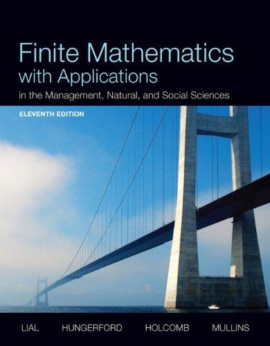 Finite Mathematics W/Appl. Text