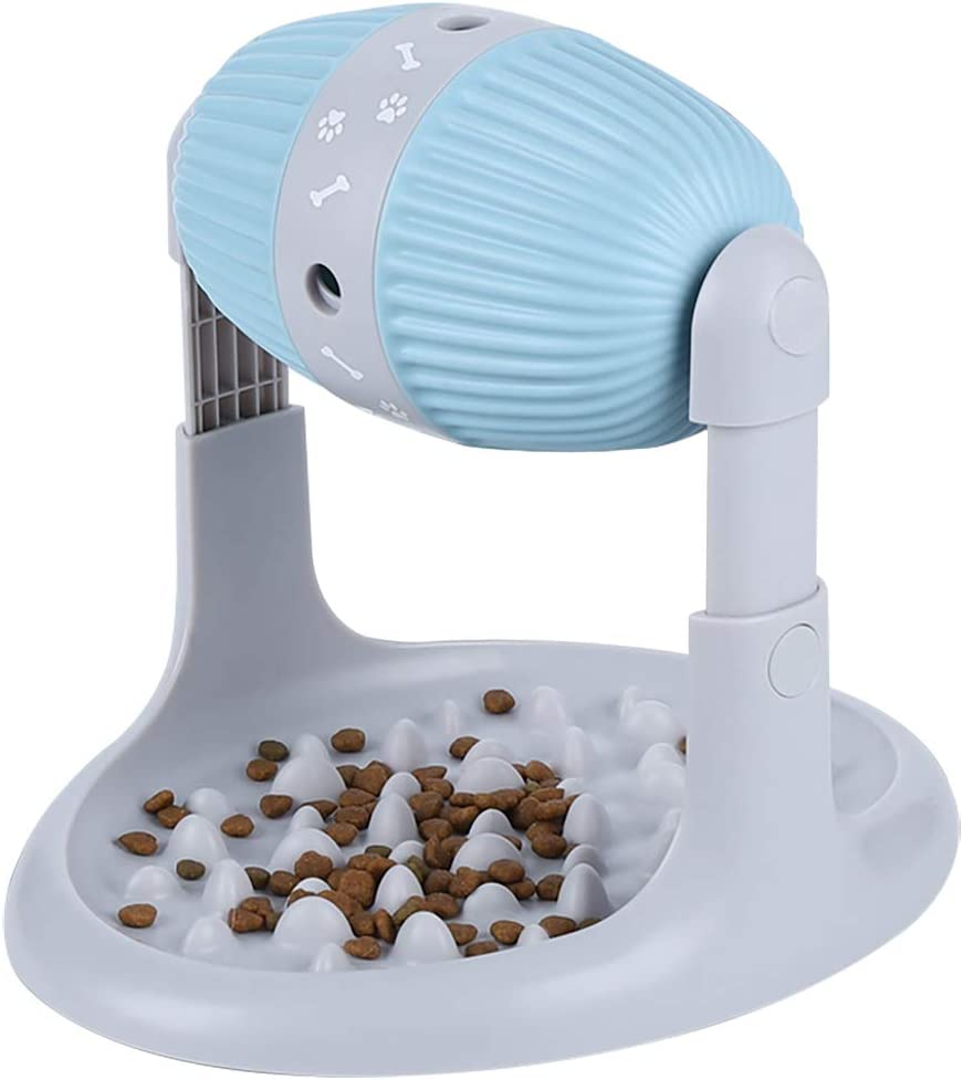Ito Rocky Interactive Dog & Cat Food Puzzle Toy Treat Boredom Slow Feeder - IQ Training Dispenser for Small/Medium Pets