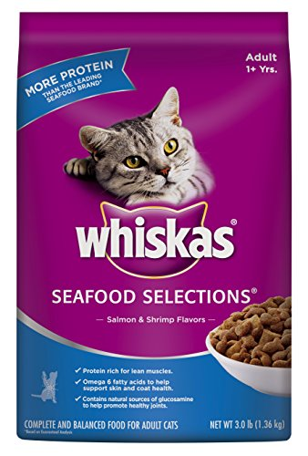 Whiskas Dry Cat Food Seafood Selections, 3-Pound
