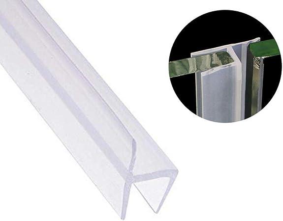 Tira de sellado para puerta de ducha de vidrio de 3 m, sin marco, resistente a la intemperie, sellado para puerta, barrido flexible de silicona, bloqueo de ruido para ventanas de crista: