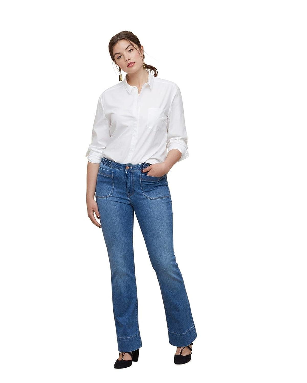 Violeta By Mango Women's Plus Size Bootcut Montse Jeans