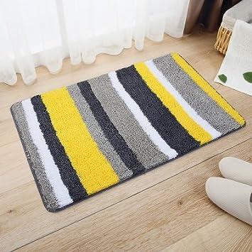 Amazon.de: GRENSS Teppich für Wohnzimmer Schlafzimmer Cool Gelb Grau ...