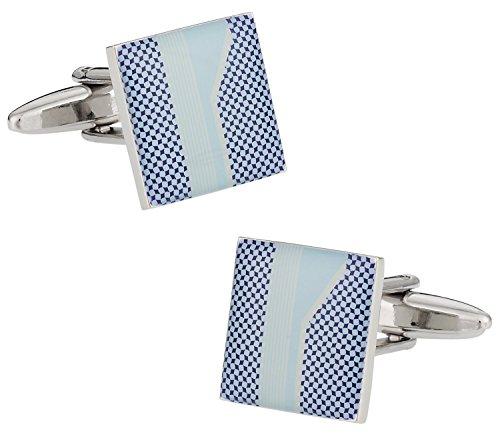 Cuff-Daddy Unique Blue Print Cufflinks with Presentation Box