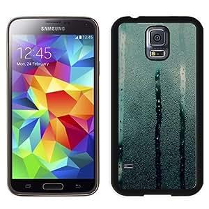 Fashionable Custom Designed Samsung Galaxy S5 I9600 G900a G900v G900p G900t G900w Phone Case With Wet Glass Drops Falling_Black Phone Case