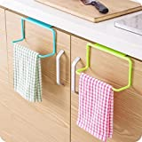 Hanging Bathroom Cabinet Binmer(TM) Towel Rack Hanging Holder Organizer Bathroom Kitchen Cabinet Cupboard Hanger (Blue)