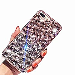 Pink & White Rhinestone With TPU Mobile Case