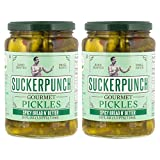 SuckerPunch Gourmet - Spicy Bread N' Better Pickle Chips, Fresh Taste, Crisp Texture, Gluten Free, Vegan Friendly, Kosher and Made In the USA (24 Ounce, Pack of 2)