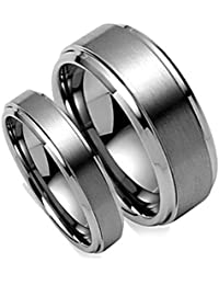 Amazoncom Tungsten Bridal Sets Wedding Engagement