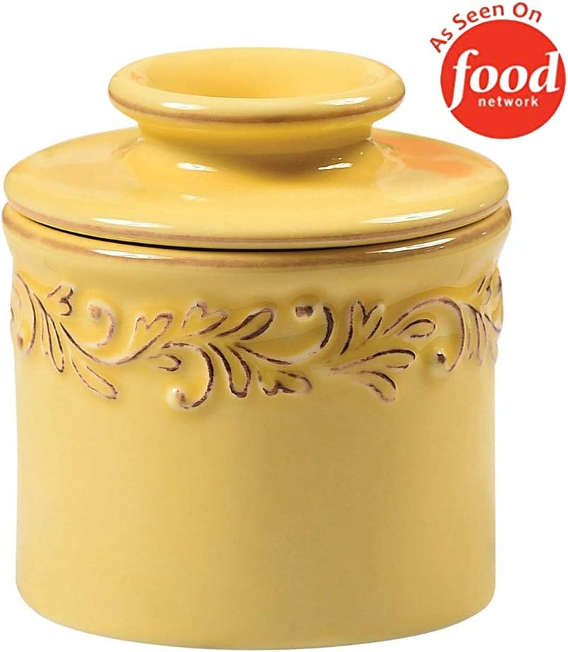 Butter Bell - The Original Butter Bell Crock by L. Tremain, French Ceramic Butter Dish, Antique Collection, Goldenrod