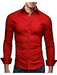 Men's Premium Dress Shirt Flim Fit - Long Sleeve Basic - Breathable
