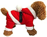 Eastcities Pet Christmas Costumes Santa Dog Clothes for Small Dogs Puppy Kitty Hoodies,S