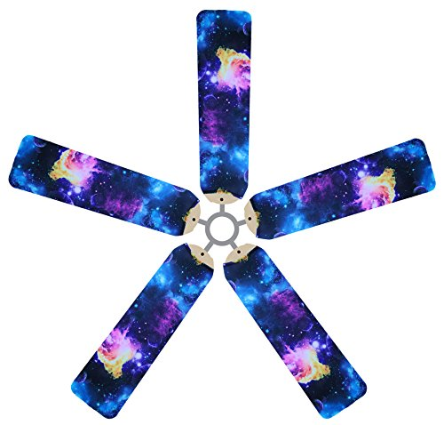 (Fan Blade Designs 6560 Space Odyssey Ceiling Fan Blade Covers, Multi, 5)
