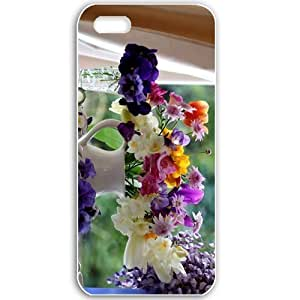 Apple iPhone 5 5S Cases Customized Gifts For Flowers flowers wildflowers in vases 17103 Black
